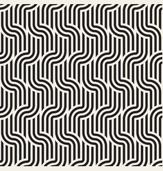 Seamless pattern interweaving thin lines abstract vector