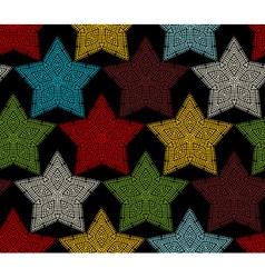 Seamless pattern of crochet stars vector image