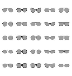 Set of glasses and sunglasses vector