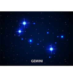 Set of Symbol Zodiac Gemini vector image