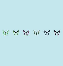 Set suspenders cartoon icon design template vector
