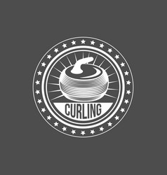 set vintage curling labels and design elements vector image
