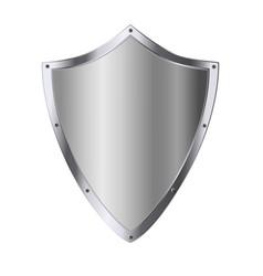 Silver shield as symbol security assurance vector