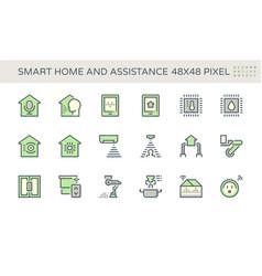 Smart home icon set design vector