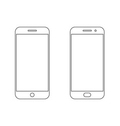 Smartphone outline icon vector