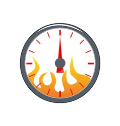 Speedometer with Flame vector