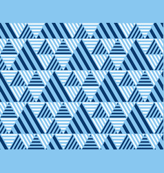 summer sea blue geometry seamless pattern vector image