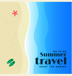 summer travel beach background design vector image