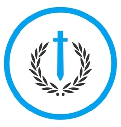 Sword honor emblem icon vector