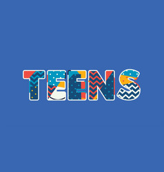 Teens concept word art vector
