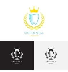template logo dental clinic vector image