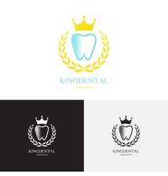Template of logo of dental clinic vector