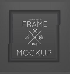 Template of square slashed frame vector