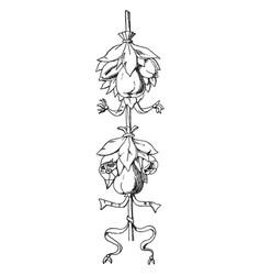 tomb louis xvii cluster is a fruit festoon vector image