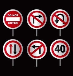 Traffic directional signs vector image