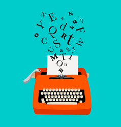 typewriter colorful icon vector image