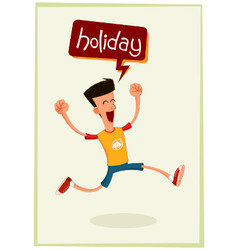 young man having fun at holiday vector image