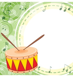 An empty space with a drum vector image vector image