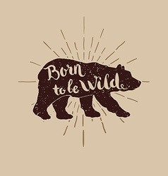 birn wild for t-short vector image