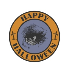 Hand drawn sign Halloween eps8 vector image vector image