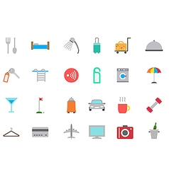 Hotel service icons set vector image