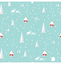 Merry christmas deer happy new year seamless vector