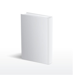 Blank vertical white book cover template vector image