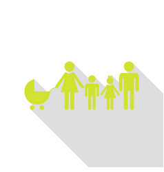 family sign pear icon with flat vector image
