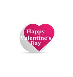 happy valentines day heart icon logo isolated on vector image vector image