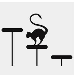 motivator climb up cat vector image