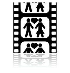 Movie date vector image