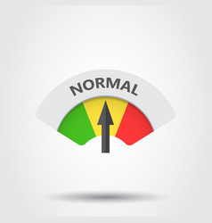 Normal level risk gauge icon normal fuel on gray vector