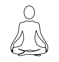 silhouette woman sitting yoga position vector image