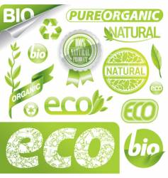 eco signs vector image vector image