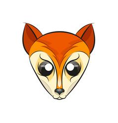 fox head logo vector image vector image