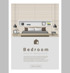 Interior design Modern bedroom banner 4 vector image