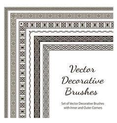 set of decorative brushes vector image