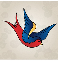 Tattoo style swallow old school vector image vector image