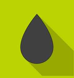 a drop of oiloil single icon in flat style vector image vector image