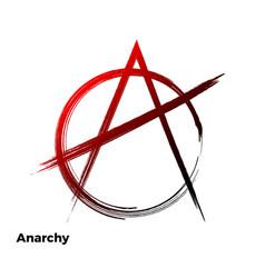 anarchy grunge symbol vector image
