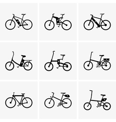 Electric bicycles vector image vector image