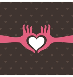Love a hand vector image vector image