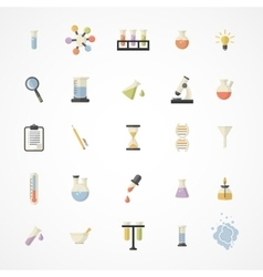 Science Web Icons vector image