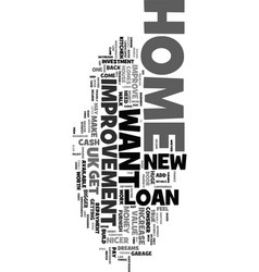 you can have a nicer home text word cloud concept vector image