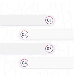 1 2 3 4 steps timeline infographics vector image