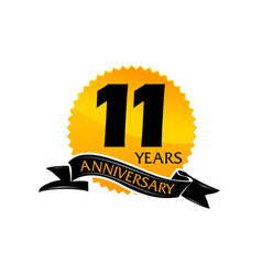 11 years ribbon anniversary vector image