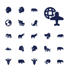 22 africa icons vector