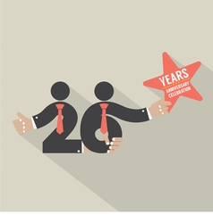 26 Years Anniversary Typography Design vector