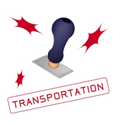 A Rubber Stamp With A Word Transportation vector image
