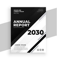 abstract black and white annual report business vector image